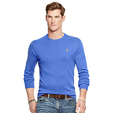 Buy Polo Ralph Lauren Pima Cotton Crew Neck Jumper, New Periwinkle Online at johnlewis.com