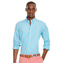 Buy Polo Ralph Lauren Long Sleeve Shirt, Light Blue Online at johnlewis.com