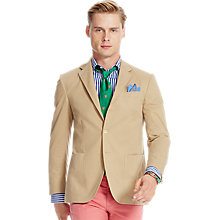 Buy Polo Ralph Lauren Gabardine Sport Coat, Tan Online at johnlewis.com