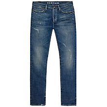 Buy Denham Razor Slim Straight Jeans, Active Vintage Blue Online at johnlewis.com