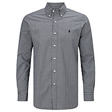 Buy Polo Ralph Lauren Checked Button Down Shirt, Black/White Online at johnlewis.com