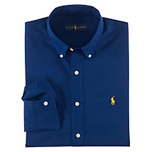 Buy Polo Ralph Lauren Long Sleeve Sports Shirt, Soho Blue Online at johnlewis.com
