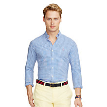 Buy Polo Ralph Lauren Slim Fit Shirt, Blue/White Online at johnlewis.com