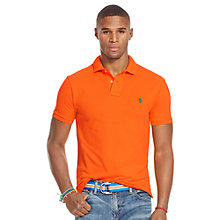 Buy Polo Ralph Lauren Slim Fit Polo Shirt, Bright Signal Orange Online at johnlewis.com