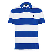Buy Polo Ralph Lauren Striped Polo Shirt, Graphic Royal/White Online at johnlewis.com