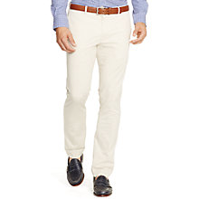 Buy Polo Ralph Lauren Hudson Flat Trousers, Basic Sand Online at johnlewis.com