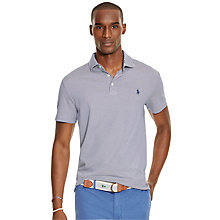 Buy Polo Ralph Lauren Striped Pima Soft Touch Polo Shirt, Fall Royal/White Online at johnlewis.com