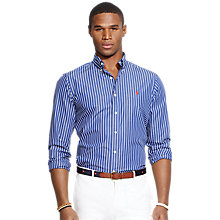 Buy Polo Ralph Lauren Striped Shirt, Navy Stripe Online at johnlewis.com