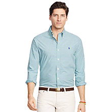 Buy Polo Ralph Lauren Check Shirt, Green/Royal Blue/White Online at johnlewis.com