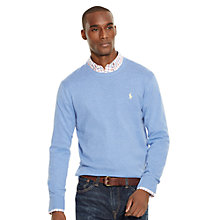 Buy Polo Ralph Lauren Crew Neck Jumper, Shelter Blue Heather Online at johnlewis.com