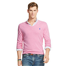 Buy Polo Ralph Lauren Pima Cotton V Neck Jumper Online at johnlewis.com