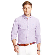 Buy Polo Ralph Lauren Checked Shirt, Pink/Blue/White Online at johnlewis.com