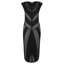 Buy Oasis Chevron Sparkle Dress, Black Online at johnlewis.com
