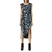 Buy AllSaints Riviera Leo Dress, Blue Online at johnlewis.com