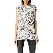 Buy AllSaints Mangla Brooke T-Shirt, Chalk White Online at johnlewis.com