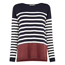 Buy Oasis Colour Block Stripe Jumper, Multi Online at johnlewis.com