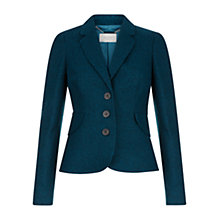 Buy Hobbs Hilda Jacket, Dark Kingfisher Online at johnlewis.com