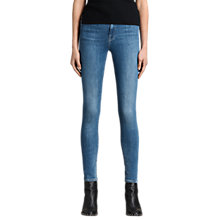 Buy AllSaints Grace Jeans, Fresh Blue Online at johnlewis.com