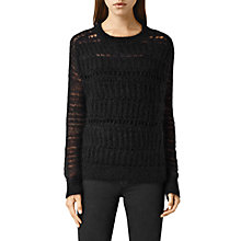 Buy AllSaints Cole Cropped Jumper, Black Online at johnlewis.com