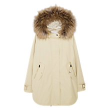 Buy Mango Faux Fur Hooded Coat Online at johnlewis.com