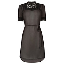 Buy Oasis Lace Trim Victoriana Tunic Dress, Black Online at johnlewis.com