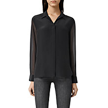 Buy AllSaints Lusee Shirt, Black Online at johnlewis.com