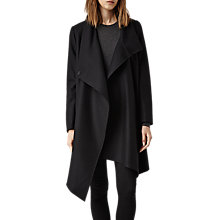 Buy AllSaints City Monument Coat, Black Online at johnlewis.com