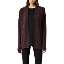 Buy AllSaints Dana Cardigan, Bordeaux Online at johnlewis.com