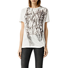 Buy AllSaints Prowl Heny T-Shirt, Chalk White Online at johnlewis.com