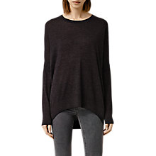 Buy AllSaints Wave Jumper, Cinder Black Marl Online at johnlewis.com