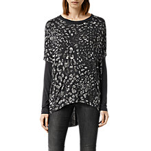 Buy AllSaints Mangla Wave Top, Deep Black Online at johnlewis.com