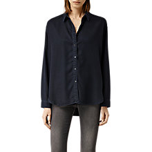 Buy AllSaints Fin Shirt, Blue/Black Online at johnlewis.com