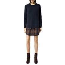 Buy AllSaints Check Estra Dress, Ink Navy Online at johnlewis.com