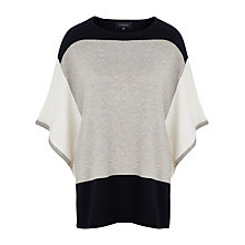 Buy Viyella Colour Block Poncho, Multi Online at johnlewis.com
