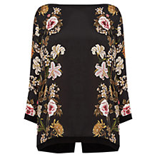 Buy Oasis Opium Woven Front Top, Black Online at johnlewis.com