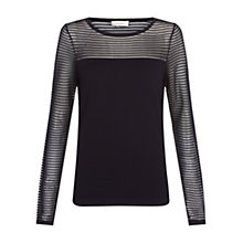 Buy Hobbs Livia Sweater, Navy Online at johnlewis.com