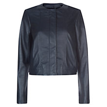 Buy Hobbs Jules Jacket, Navy Online at johnlewis.com