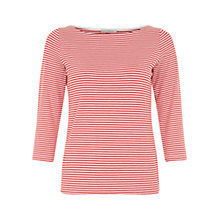Buy Hobbs Chloe Top, Poppy Red/Ivory Online at johnlewis.com