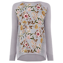 Buy Oasis Opium Lace Jumper, Grey Online at johnlewis.com