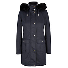 Buy Viyella Waxed Coat, Blue Online at johnlewis.com