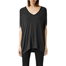 Buy AllSaints Miles Top, Rust Marl Red Online at johnlewis.com