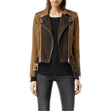 Buy AllSaints Leather Hyland Biker Jacket Online at johnlewis.com
