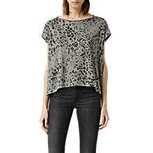 Buy AllSaints Mangla Pina T-Shirt, Stone Grey Online at johnlewis.com