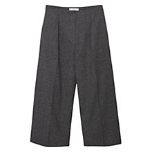 Buy Mango Cropped Palazzo Trousers, Black Online at johnlewis.com