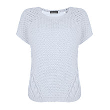 Buy Mint Velvet Cable Knit Tabard, Blue/Ivory Online at johnlewis.com