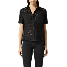 Buy AllSaints Delliance Pocket Shirt, Black Online at johnlewis.com