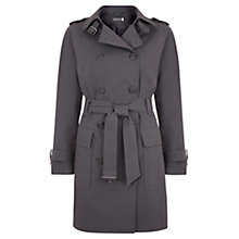 Buy Mint Velvet Cotton-Blend Trench Coat, Grey Smoke Online at johnlewis.com