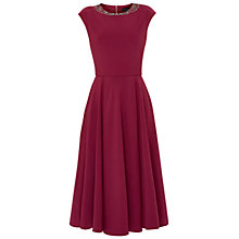Buy Ted Baker Hetiana Embellished Midi Dress, Purple Online at johnlewis.com