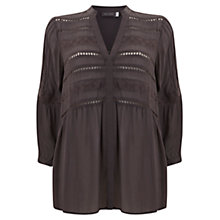 Buy Mint Velvet Brodrais Blouse, Grey Online at johnlewis.com