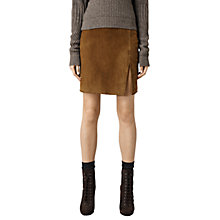 Buy AllSaints Leather Laced Mia Skirt, Tan Online at johnlewis.com